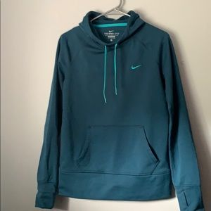 Teal Nike Therma-Fit hoodie